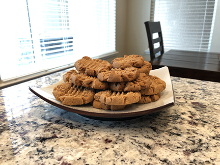 Healthy 3 Ingredient Keto Peanut Butter Cookies