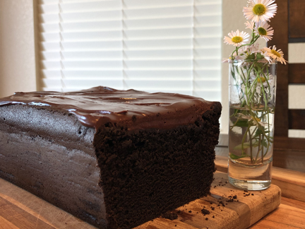 Chocolate Poundcake with Ganache Frosting