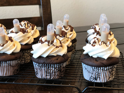 Drunken Chocolate Baileys Irish Buttercream Cupcakes