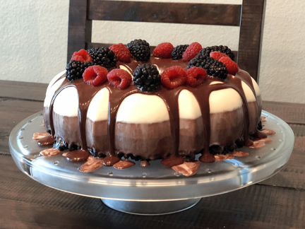 No-Bake Three Layer Chocolate Cake